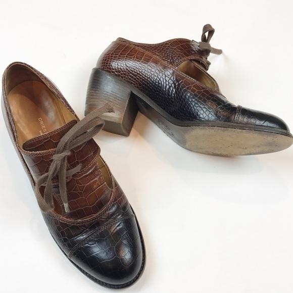 1b86f60120 Dries Van Noten EUC crocodile heeled shoes size 37.  M 5a5cf1bea6e3ea8403f71600